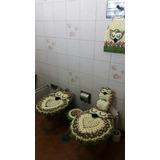 Alfombras Buo Tejidas Al Crochet, Cubre Inodoro, Etc.