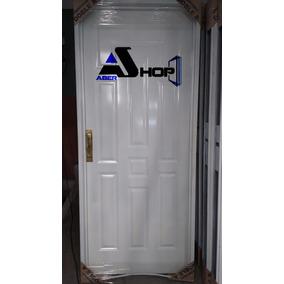 Puerta Chapa Inyectada 80x200 Doble Faz Abershop