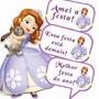 Plaquinhas Divertidas Tema: Princesa Sofia