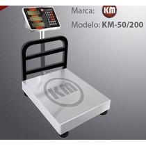 Bascula Digital 200 Kg Km, Acero Inoxidable, Plataforma,