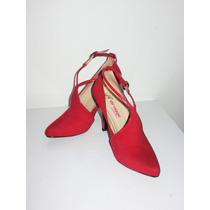 Zapato Elegante Color Rojo - Taco Nro 9