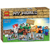 Minecraft Set Construcción,8 Modelos Diferentes En Una Caja