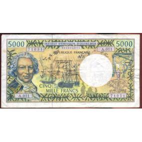 Billete Pacifico Frances 5000 Francos P.3g (2000-06)