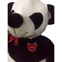 Oso De Peluche Gigante 2mt. Panda Con Corazón Pers. El Mejor