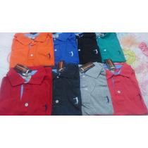 Kit 10 Camisa Camiseta Gola Polo Aleatory Masculina Promoção