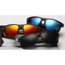 Óculos De Sol Armação Imitação Madeira Lote Com 3 Peças