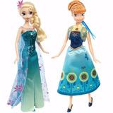 Boneca Original Disney Mattel Frozen Fever Kit Anna + Elsa