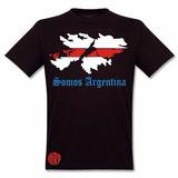 Remera River Plate Negra Malvinas Argentinas Carp