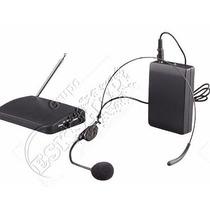 Kit Microfone Uhf Auricular Headset Sem Fio Lapela- Barato!!
