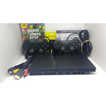 Playstation 2 Destravado+ 2 Controles+ Memory Card+jogos!
