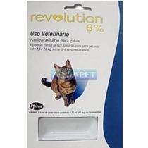 Antipulgas E Carrapatos Revolution Para Gatos De 2,6-7,5kg