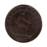Moneda España 5 Centimos Año 1870 Km#662