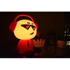 Luminária Abajur De Mesa Dj Skater Vermelho