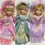 3 Bonecas De Porcelana Tipo Vitoriana Dama Antiga Francesa