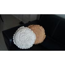 Almohadones Tejidos Al Crochet En Forma De Flor
