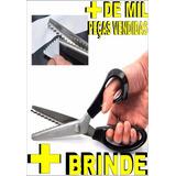 Tesoura De Picotar Profissional - Papel E Tecidos + Brinde