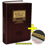 Bíblia Letra Gigante Marrom Fala Amigo Pal Jesus Vermelho