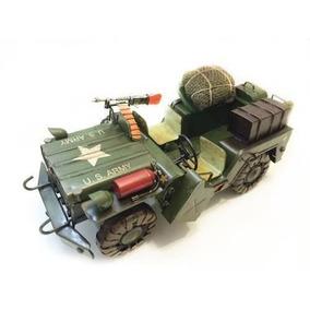 Jeep Miniatura De Ferro Americano Fundido 2 Guerra