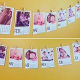 Calendario Guirnalda Año Almanaque Polaroid Fotos Regalo