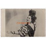 Foto Postal Mujer Con Vestimenta Tipica Española 1947