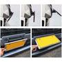 Porta Placa Reclinable Fibra Carbono Sport Auto Camioneta