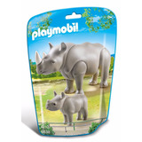 Playmobil Zoo Rinoceronte Con Cria 6638 Educando