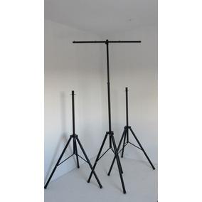 Kit C/ 1 Tripé Para 8 Aparelhos E 2 Pedestal P Caixa De Som