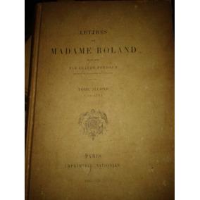 Livro Francês As Cartas De Madame Roland