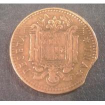 Una 1 Peseta 1966 España Franco Con Falla Error Guillotina