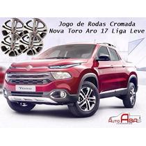 Jogo De Rodas Cromada Novo Fiat Toro Aro 17 Liga Leve