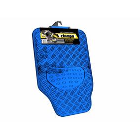 Tapete Automotivo Aluminio Azul Chimpa 5 Peças
