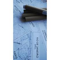 Lámina Con Mapa De Ciudades Para Cuadro Decoración 30x40cm