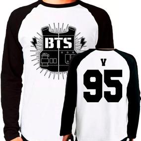 Camiseta Blusa Kpop Bangtan Boys Bts V 95 Raglan Manga Longa
