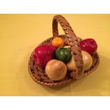 Cesta De Frutas Decorativas Adorno Restaurante Cafetería