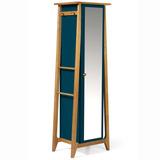 Armário Multiuso 1 Porta Stoka Maxima Nogal/azul Noit Ej