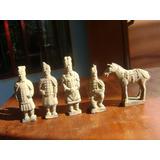 Guerreiros Xian Antigo Estátuas Terracota Com 5 Unidades