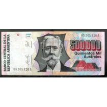 Argentina - Australes 500.000 Bottero 2899 Muy Bueno B0003