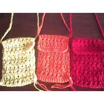 Carteritas Para El Celular Tejida En Crochet-precio Por Unid