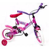 Bicicleta Rodado 12 Kids Con Suspención Reforzadas R12 Rosa