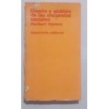 Diseño Y Analisis De Las Encuestas Sociales - Herbert Hyman