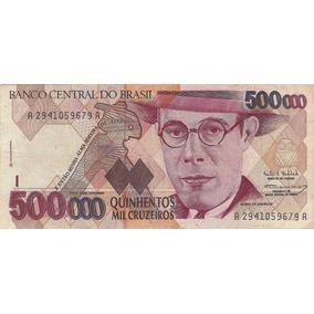 Cedula 500 Mil Cruzeiros Verdadeira
