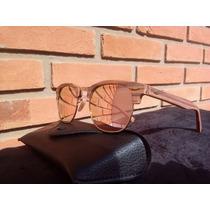 Óculos De Sol Clubmaster Wood Madeirado Unisex Frete Grátis