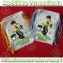 Kit 10 Mochilinhas Eco Bag Sacola Festinhas Tecido Ben 10
