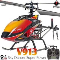 Helicóptero V913 Rc Wltoys + Bateria 1500mah + Hélice Reserv