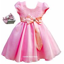 Vestido Infantil Princesa Luxo Várias Cores