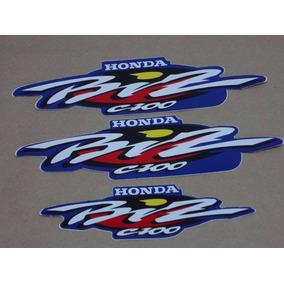 Kit Adesivos Faixas Honda Biz 100 Es - 2001 Azul
