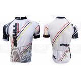 Camisa Ciclismo Skull Racing Iron Branca