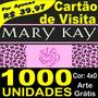 Cartão De Visita Barato Mary Kay Cor Frente - Arte Grátis