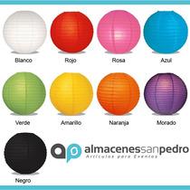 10 Lamparas Chinas De 30cms, 9 Colores Disponibles