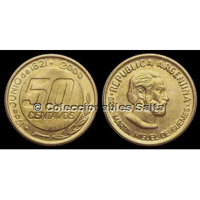 50 Centavos Güemes De 2000, Cj 5.7.1, Km 129.1, Unc, S/c